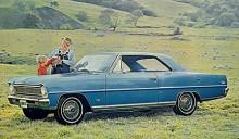 Fullt så gubbig som farbrorn i hängselbyxor var väl aldrig genomsnittsköparen av Nova. 1966 hade karossdragen rätats upp en smula men hjulen var fortfarande små 13-tummare vilket märks om man tittar på mängden plåt ovanför framhjulet.