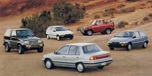Parallellt med Rocky Tillverkade Daihatsu småbilar som Charade. Men de kom inte lika högt upp i backen.