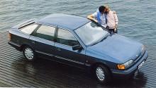Skorpan som vi minns den. Vanligast var Scorpio halvkombi. Många gånger med mullrande V6.