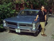 Augusti 1971. Även i Sverige fanns det USA-bilar. Björn Nord körde en Pontiac LeMans -65. Finns den kvar?