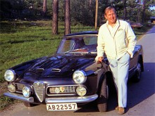Maj 1972: I Skärholmen träffar Gus Melin Ove Steen med Alfa Romeo 2000 Spider med hardtop.