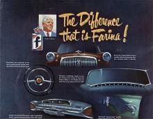 Farina var 1952 helt okänd för den bilköpande allmänheten i USA och för att skapa intresse ordnade Nash en utställning av farinaritade  Lancia, Fiat och Cisitalia. I broschyren fick Farina också en egen sida.