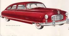 Airflyte kallades i reklamen alla Nash av 1949 års modell men de gamla modellnamnen fanns kvar - här en Ambassador.