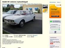 Tidiga Saab 99:or har varit utrotningshotade länge men de är fortfarande inte dyra. 10 500 kronor och du får den här körklar. Klurighet: Startnyckeln på golvet.