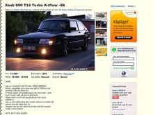 Saab 900 Turbo 16 -86. En modell som börjar bli riktigt ovanlig. Klurighet: Turbo.