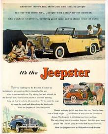 Jeepster marknadsfördes för den lekfulla ungdomsgeneration som knappast fanns 1948.