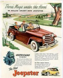 Willys kallade sina fyra- och sexcylindriga halvtoppmotorer för Hurricane. De var utvecklade ur sidventilmotorer.
