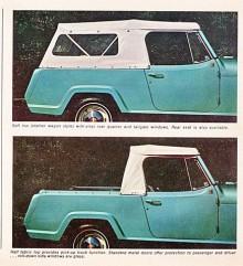Ville man ha den helöppna roadstern kunde man välja en enkel sufflett antingen i full längd eller också bara över framsätet.