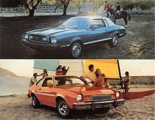 Mustang II baserades på ekonomibilen Pinto, undre bilden, men fråga är om inte Pinto var snyggare.