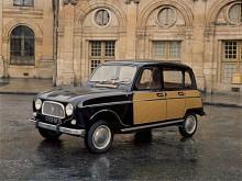 """På våren 1963 presenterades en kromtyngd lyxupplaga av Renault 4 kallad La Parisienne. Den hade framtagits i samarbete med modejournalen Elle och skulle särskilt appellera till kvinnor vilket inte i början av 1960-talet ansågs diskriminerande eller fördomsfullt. Bilarna var alltid svarta och försedda med karossapplikationer antingen med imiterad korgflätning eller med skotskrutning i rött eller blått. Parisienne tillverkades till och med 1968 och skilde sig från andra R 4:or genom att redan från början ha """"stora"""" 5CV-motorn på 845cc."""