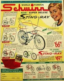 Kan en cykel se ut precis hur som helst? Javisst! och det gjorde de också på 1960-talet. Schwinn Sting-Ray är en ultraklassiker som präglade generationer av amerikaner.