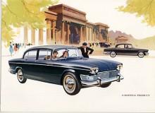 Ny motor på 2,6 liter och självbärande kaross hade den sista generationen av Super Snipe. Den tillverkades med löpande förändringar 1958-1967. Bilden visar en 61:a med för årsmodellen ny front med dubbla strålkastare.