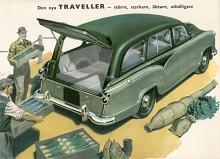De första Travellers hade på grund av sitt speciella byggsätt bara haft två dörrar och det var inte accepterat på den engelska marknaden för annat än småbilar. Nästa Traveller från Morris hade därför fyra dörrar. Fast den så tydligt var en kombiversion av Oxford saloon series III kallades den ändå series IV när den kom 1957.  Den tillverkades till 1960. Ett fåtal letade sig till Sverige och några utrustades optimistiskt nog av generalagenten som taxibilar.