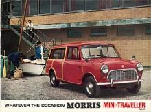 Hundkojan presenterades på hösten 1959 och ett år senare kom det en kombi med den längre hjulbas som van och pick-up hade.  Traveller hette den som såldes som Morris. Mot ett litet pristillägg fick man utvändig trädekor. Bilen på bilden är en Mark I, men har på broschyromslaget genom ganska tafflig retuschering av grill och emblem ändrats till Mark II. När kombiversionen av kojan fick Clubmanfront 1970  var det inte längre någon Morris och därför heller ingen Traveller.