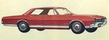 Oldsmobiles 88-serie lanserades 1949 mellan de existerande serierna 76 och 98 och hade den nya V8-motorn, döpt till Rocket under huven. Beroende på utrustningsnivå fick 88 olika tillnamn som Delmont, Dynamic, Jetstar och Starfire. 1965 kom Delta 88, en Dynamic med mer utrustning. Här ser vi en -66:a.
