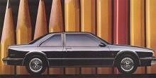 1986 flyttades Delta-namnet till en mindre, framhjulsdriven modellserie som byggdes på GM:s H-plattform. Här har vi en tvådörrars -87:a. Namnet Delta försvann 1988 ur 88-programmet. Nu hette bilen Eighty Eight och fortsatte byggas till 1999.