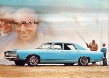 Året därpå - 1969 - är Fairlane 500 förvisad till pensionärsbil. Den snälle Granpa, som säkert beställt sin bil med sexa, tar sonsonen med på fisketur. Om han vill byta bil 1971 får han ta en Torino, både Falcon och Fairlane är nedlagda.