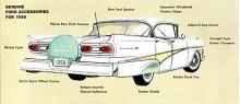 Ford fortsatte 1958 med en inte helt lyckad facelift av 57:orna. Den redan kromtunga Fairlane 500 kunde förses med ännu mera krom som options.