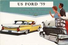 Man såg fortfarande att 59:an var en Ford men karossen var helt ny. Nu endast en hjulbas och Fairlane 500 var toppmodellen bara några månader för att ersättas av Galaxie med en annan och kantigare taklinje.