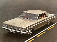 Fairlane undergick varje år en facelift och 64:an ser mer kraftfull ut. Paletten utvidgades med hard-top och stationsvagnar och motorurvalet blev allt rikhaltigare.