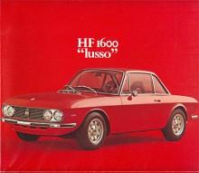 """HF 1600 var rallybilen som var lättad på olika sätt men det fanns också en """"lusso"""" där lyxen bestod av stötfångare, flera blanklister, fetare stolar etc, men effekten var densamma - 114 DIN."""