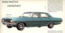 Som en förfinad Chevelle med drag av Buick såg den ut, Opel Kapitän A (1964-1969) men modellen var nu vardagsbilen i den första K-A-D-serien som också omfattade Admiral och V8-modellen Diplomat. Sextiotalets ekonomi var god så det såldes mer än dubbelt så många Admiral som Kapitän.