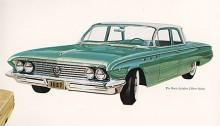 Betydligt mer återhållsam, ja rent av smakfull är Buicks snygga 61:a, här som snikmodell om man nu kan säga det om Buick.