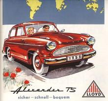 Nu är det 1959 och paret från förra bilden har bytt till en Alexander TS. Föraren ser mer sammanbiten ut men den högre effekten kräver förstås koncentration. Passageraren ser mycket lyckligare ut. Hon vet säkert att folk ser att det är en TS på den nya grillen.