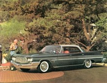"""1957 kom namnet Saratoga tillbaks som en del av Chryslers """"Forward Look"""" skapad av designgurun Virgil Exner. Bilen på bilden är från 1960."""