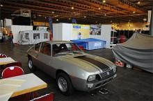 Lancia Fulvia Zagato väntar på att ställas in i montern. Nycklarna sitter i, kanske skulle man ta en liten provtur....?