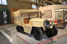 Citroën Kégresse med halvband omkring 1930 som franska armén hade och som Citroën använde på sina expeditioner i Afrika och Asien.