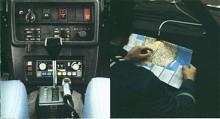 Så här såg arbetsmiljön ut i en polisvolvo 1979, inte så otroligt mycket knappar faktiskt.