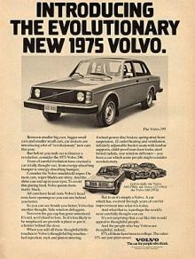 1975Försök att hålla dig vaken! Det blir roligare. Men 1975 blev det inte roligare än så är i Volvos annonser.
