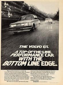 1980Medan Volvo GLE nischades åt ett håll så var Volvo GT uppenbarligen något helt annat. Ingen sifferbeteckning nämns här heller. Undrar varför 242 GT klarade sig undan de dubbla amerikastrålkastarna?