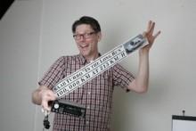 Claes Johansson blev glad för banderoll och Clarion.