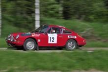 Mauritz Lange kom i en ex-Waldegår Porsche 911L -67.