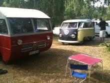 Morgonen inleddes hos campingspecialister.