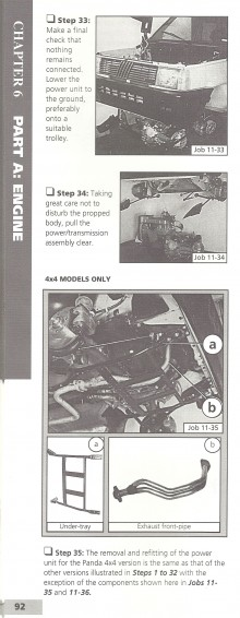 Det verkar så enkelt. Efter 33 olika steg är det bara att sänka ner motorn och dra ut den.