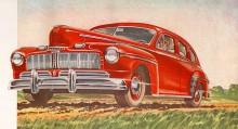 Mercury 1946. En krombehängd Ford med 4 tum längre hjulbas