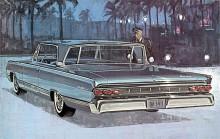 Mercury 1964. Egen stil med bakåtlutad bakruta.