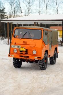 Ulf Sander från Segeltorp var väl rustad med Volvo Valp -67.