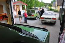 Det är egentligen Samis fru Tinas bil, hennes förstabil.