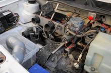 Aseamotorn på 9,5 kW tar inte mycket plats. Ursprungligen framtagen för Saabs räkning.