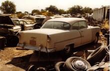Mera namnam. Chevrolet tvådörrars hardtop, 1955.