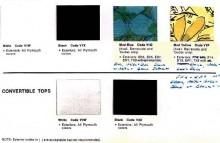 Ur katalogen 1970, det blå/gröna mönstret fann kvar i sortimentet, men hittills verkar man bara känna til en Cuda som levererats med det.