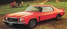 1974 HJ-serie Monaro GTS, bara  runt 4000 byggdes sammantaget coupéer och sedaner