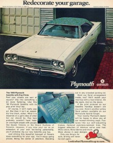 Plymouth Satellite annons 1969