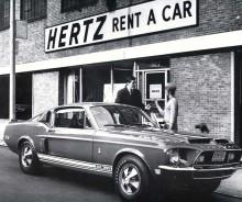 """Hertz fortsatte att hyra ut Shelbys i lite mindre omfattning även efter 1966, dessa hade då inte heller det speciella modellnamnet """"H"""""""