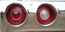 Chevellens tuffa runda baklampor var infällda i kofångaren 1972, kromet är klanderfritt också.