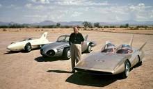 De tre turbindriva Firebird-bilarna, femtiotalsfuturism och spjutspesteknologi.